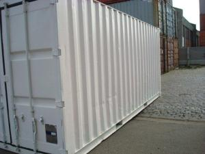 container 20 pieds blanc